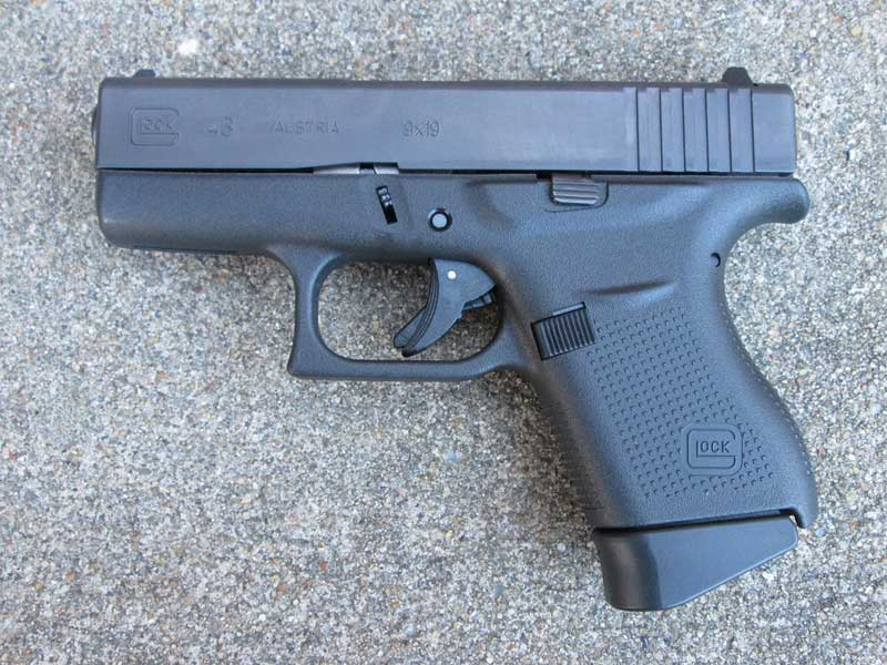 Glock 43 (Issued as a back-up weapon choice)